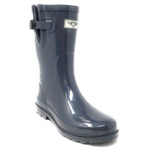 Women Mid Calf Rain Boots, #1602, Grey